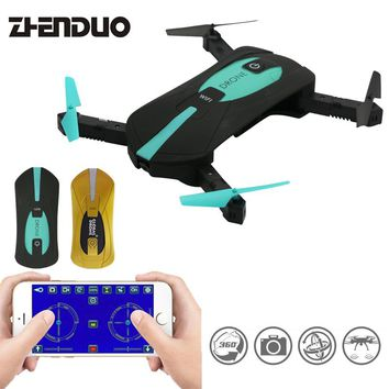 Foldable 2MP WIFI FPV Real-Time Camera Drone Altitude Hold RC Quadcopter JY018