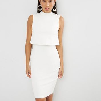 Lavish Alice High Neck Cropped Midi Dress at asos.com
