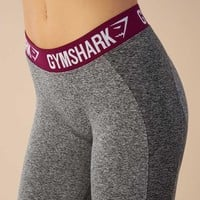 Gymshark Flex Leggings - Charcoal/Deep Plum
