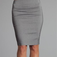 Light Charcoal Pencil Skirt