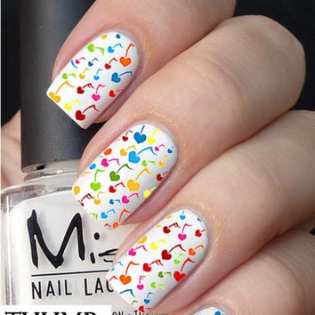 heart full note Nail Decal