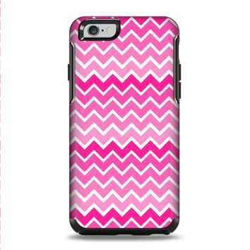 The Pink & White Ombre Chevron V2 Pattern Apple iPhone 6 Otterbox Symmetry Case Skin