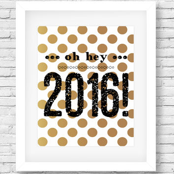 Printable New Years Party Wall Decor, New Years Party Print Art by SUNSHINETULIPDESIGN