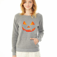 Pumpkin Halloween ladies sweatshirt