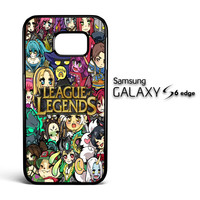 League of Legends Chibi Champions A0672 Samsung Galaxy S6 Edge Case