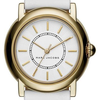 MARC JACOBS 'Courtney' Leather Strap Watch, 34mm | Nordstrom