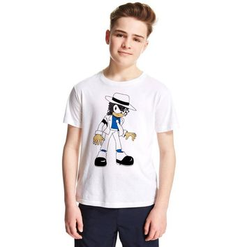 Michael Jackson Kids T Shirt The Hedgehog Sonic Children T-shirt Summer Fashion Boys Girls Tshirts Baby Tops Toddler Tees 1-12Y