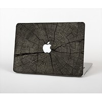 "The Dark Cracked Wood Stump Skin Set for the Apple MacBook Pro 13"" with Retina Display"