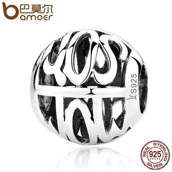 Authentic 100% 925 Sterling Silver SON Charms Fit Bracelets & Necklace S925 Fine Jewelry SCC061