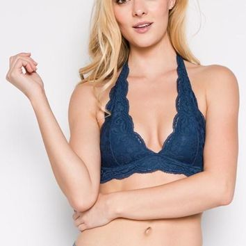 Deep V-Neckline Lace Bralette (final sale)
