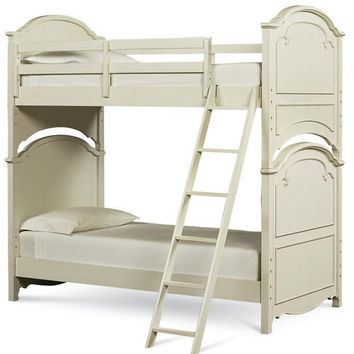Phoebe Antique White Twin over Twin Bunk Bed