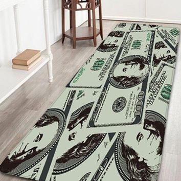Dollar Water Absorption Flannel Bathroom Rug