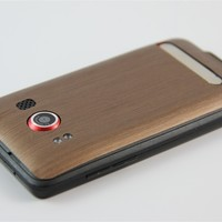 HTC Evo 4G Brushed CopperSkins, Wraps and Cases from SlickWraps