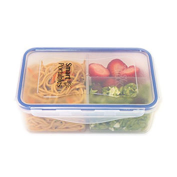 Smart Portables Meal Prep Container; Portion Control; Leakproof Reusable Food Container; Bento Lunch Box