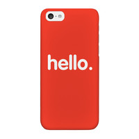 Hello Full Wrap High Quality 3D Printed Case for iPhone 5C by textGuy