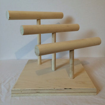 Wooden Bracelet Display, Three Tier Display for Jewelry, Jewelry Stand