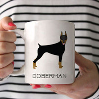 Doberman Coffee Mug - Doberman Ceramic Mug  - Dog Mug - Gift for Coffee Lovers - Doberman Lover Gift - Doberman Mug - Dog Breed Mug
