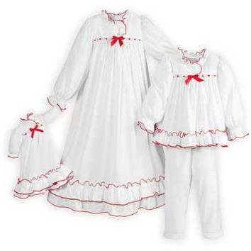 Clara's White Nightgown & Pajamas Nutcracker Theme- Made in USA.