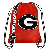 Georgia Bulldogs Official NCAA Team Logo Drawstring Backpack