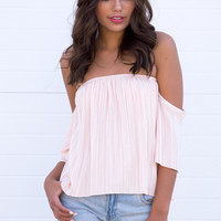 Clora Blush Off The shoulder Top