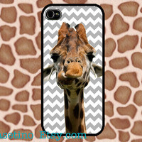 Chevron Giraffe iPhone 5 Case Cute Animal iPhone 4 case, iPhone 4S case, Hard Plastic Case, Iphone Cover