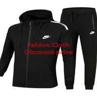 Nike 2018 Fashion Casual long Sweat Pants L-4XL C-9988 Black
