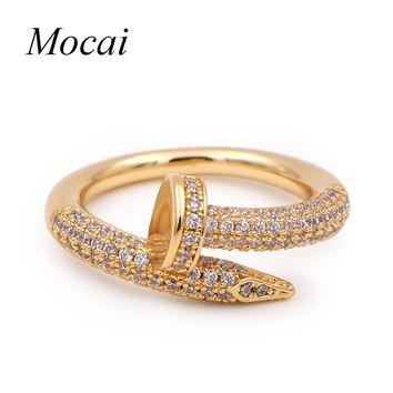 Luxury Shining Cubic Zircon Fashion Rings Brand Design Vintage Women Finger Engagement Ring Jewelry Lord of Rings