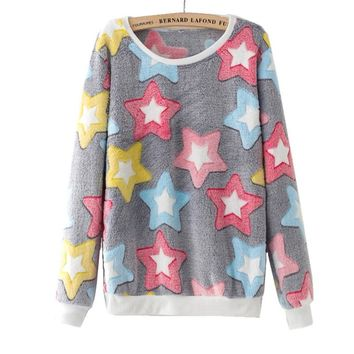 Starwee Women Fashion Autumn Winter Long Sleeve Tracksuit Women Girl Hoody Harajuku Kawaii Emoji Cute Pullover Sweatshirt Tops