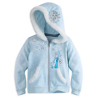 Elsa Zip Hoodie for Girls | Disney Store