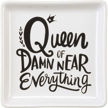 Queen Of Damn Near Everything Stoneware Trinket Tray