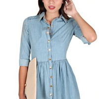 Two Step Chambray Dress