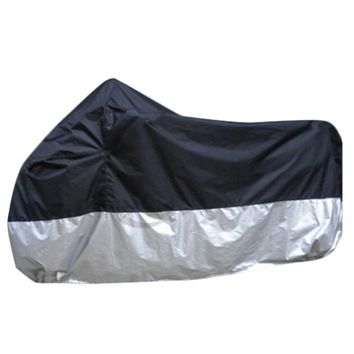 High Quality Waterproof UV Breathable Motorcycle Motor Vehicle Black and Silver Cover Split Color Tilts Protective Sheets