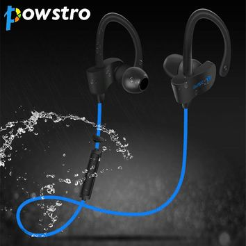 Powstro Sports Earphone Wireless Stereo Bluetooth V4.1 Sweatproof Noise Reduction Earhook Handsfree for iPhone5 6 7 Plus Samsung
