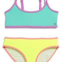 Girl's Billabong 'Sol Searcher - Athletic' Two-Piece