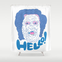 HELLO! (Mrs. Doubtfire) Shower Curtain by LookHUMAN