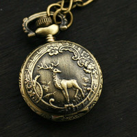 Woodland Deer Pocket Watch