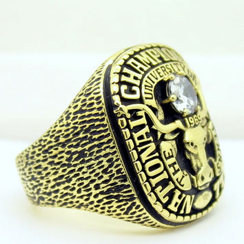 1969 texans Longhorns ring  Houston longhorns championship ring BC1370