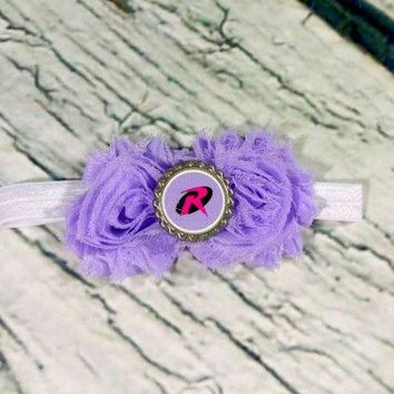 Purple Robin Headband - Batman and Robin - Baby Girl Headbands - Baby Headbands - Baby Bows - Girls Hair Bows - Infant - Toddler - Baby Girl