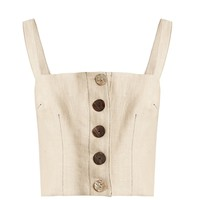 Anoushka square-neck cropped linen top | Albus Lumen | MATCHESFASHION.COM UK