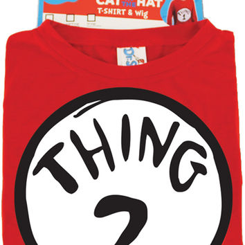 costume accessory: shirt dr. seuss thing 2 - with wig