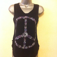 Peace logo tank tops vest onesize fits all