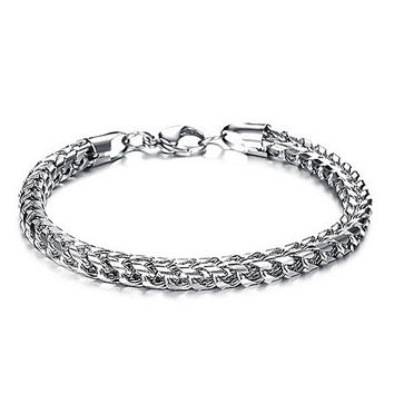 Silver Stainless Steel Chain Bracelet