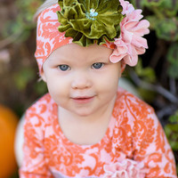 Giggle Moon-Harvest Fields Knit Headband  (size Toddler)
