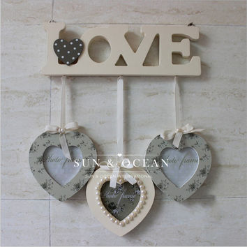 3 boxes/set love wood frame for Home Decoration