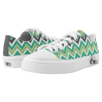 Geometric tribal aztec andes chevron zig zag print printed shoes