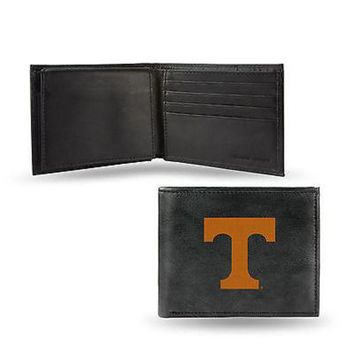 VONE05W5 Tennessee Volunteers Wallet Black LEATHER BillFold Embroidered University of