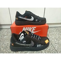 """Nike Air Force 1"" Men Casual Fashion Personality Graffiti Letter Plate Shoes Sneakers"