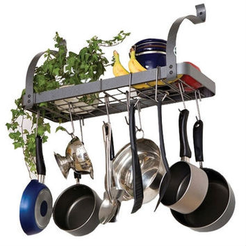 Wall Mounted Metal Kitchen Storage Shelf Pot Rack