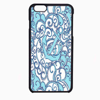 lily pulitzer blue anchor FOR IPHONE 6 CASE NEWEST **
