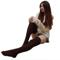 Sexy Warm Socks Thigh High Over Knee Woman Long Socks Hosiery Plus Size Winter Woman Socks Fashion Ladies High Socks For women